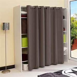 Tringle Pour Dressing : dressing extensible 8 niches 1 penderie en bois l112 ~ Premium-room.com Idées de Décoration