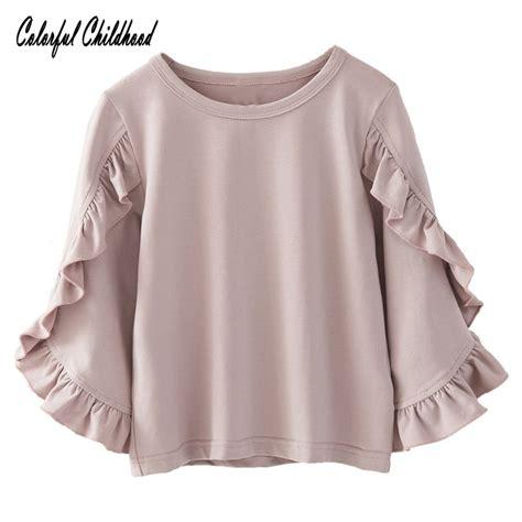 toddler girls shirt autumn winter ruffles kids blouse