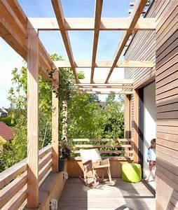 maison en bois toiture terrasse pergola bois maison With pergola bois fait maison