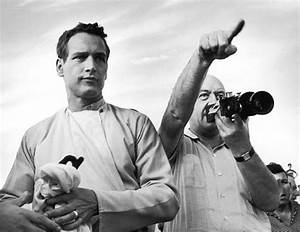 Paul Newman & Otto Preminger on the set of the film Exodus ...