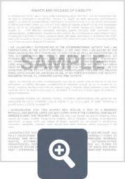 release  liability form template  sample