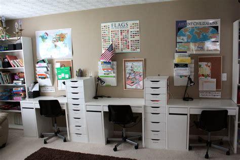 homeschool desk ideas it s just brandon and s home school room tour
