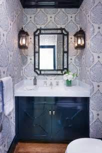black and blue bathroom ideas black footed sink vanity with silver drop ring pulls transitional bathroom