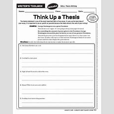 How To Write A Thesis Statement Worksheet Ehow
