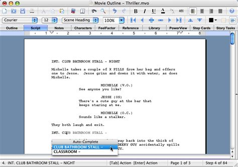 Microsoft Word Screenplay Template by How To Format A Screenplay Learning The Screenwriting Formula