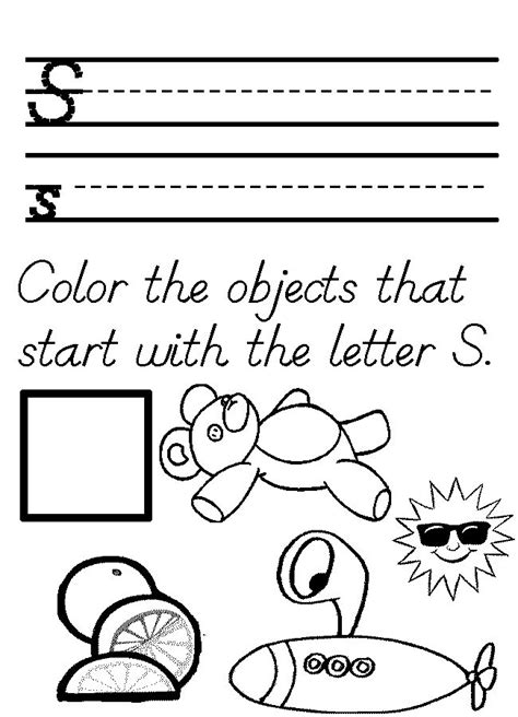letter s worksheets and coloring pages for preschoolers 841 | 02e2e676df9f3b34f65bf70b2b123399