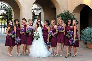 show me your bordeaux burgundy and wine colored With wine color dress for wedding