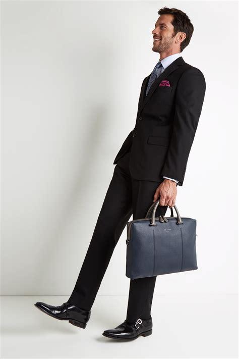 Moss Esq Regular Fit Black Notch Lapel Suit Jacket