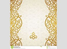 Vector Seamless Border In Victorian Style Stock