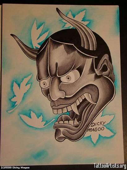Oni Mask Tattoo Japanese Meaning Wallpapersafari