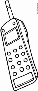 Phone Cell Coloring Megaphone Phones Drawing Getdrawings Pages Printable Getcolorings sketch template