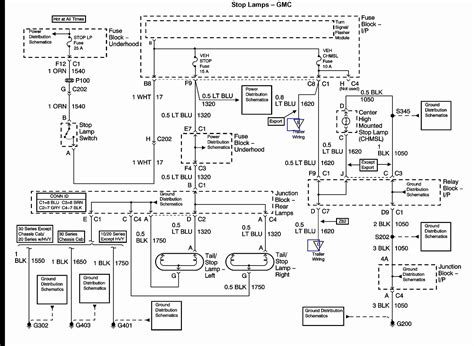 gm brake light switch wiring wiring diagram