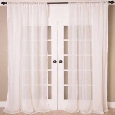 Bed Bath And Beyond Sheer Linen Curtains by White Linen Curtains 108 Curtain Menzilperde Net