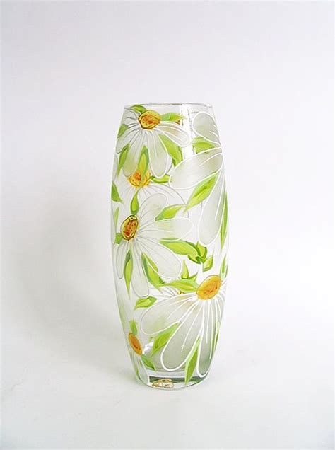 glass painting flower vase best 25 painted glass vases ideas on painting