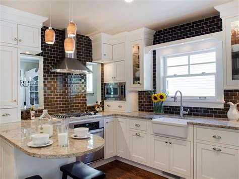 kitchen cabinets white and brown custom kitchen windows pictures ideas tips from hgtv
