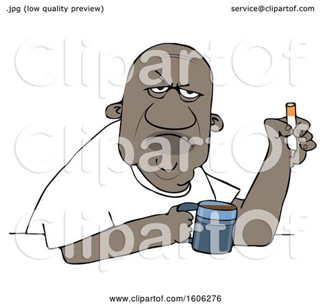 I dont care what day it is its early im grumpy i want coffee png instant download 1 $ 6.45 $ 3.45. Clipart of a Grumpy Old Black Man Smoking a Cigarette over Coffee - Royalty Free Vector ...