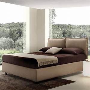 Lit Moderne Design : lit double rembourr olimpia avec coffre de design moderne ~ Nature-et-papiers.com Idées de Décoration