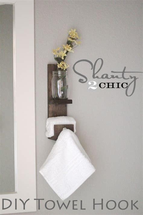 DIY Bathroom Towel Hooks Ideas