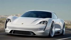 Обои Порш Миссия Е, лектромобиль, белый, Porsche Taycan