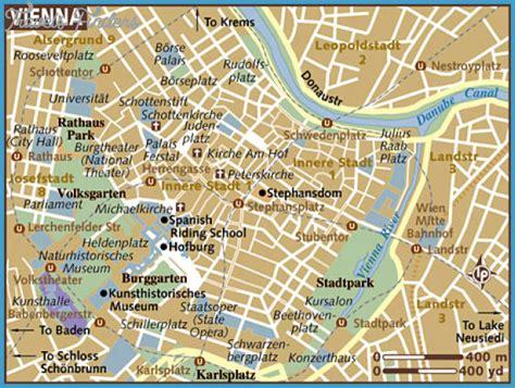 vienna map tourist attractions travelsfinderscom