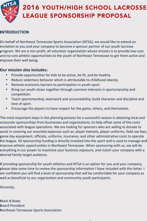 writing  sports sponsorship application  samples