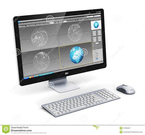 poste de travail professionnel d 39 ordinateur de bureau