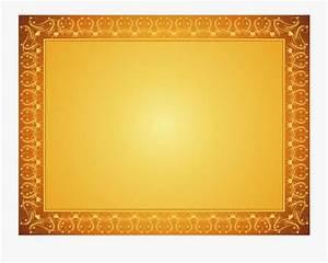 Certificate, Golden, Border, Png, Free, Transparent, Clipart