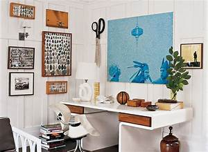 Unique wall decor with modern desk for stylish work office