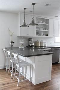 This is it!!! White cabinets, subway tile, quartz ...
