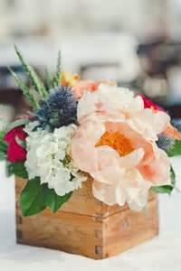 Rustic Wood Box Centerpiece Wedding Ideas