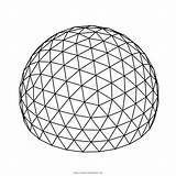 Dome Coloring Geodesic sketch template