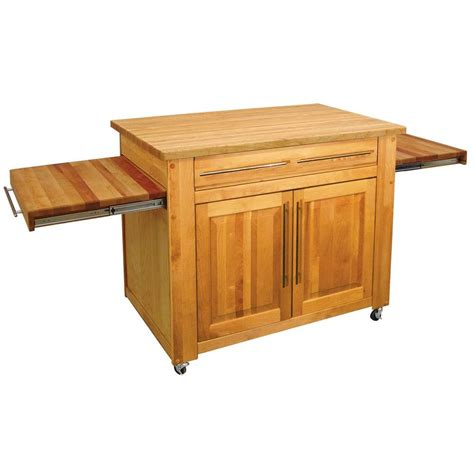 kitchen islands home depot catskill craftsmen catskill natural kitchen island with pull out leaves 1480 the home depot