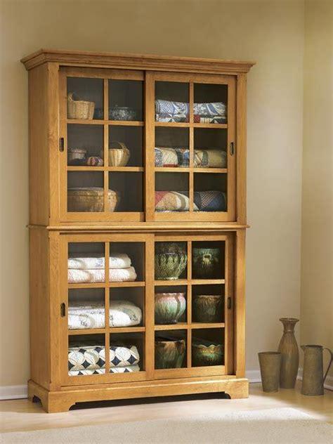 sliding door cupboard woodworking plan  wood magazine