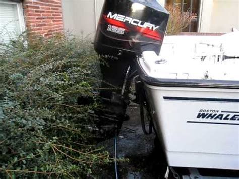 Flushing Boat Engine After Salt Water by Mercury 125hp Outboard Flushing After Saltwater Run Youtube