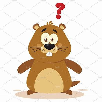 Question Mark Cartoon Clipart Character Marmot Creative