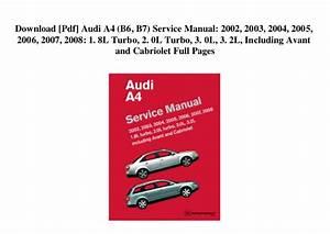 2006 Audi A4 1 8t Owners Manual Pdf