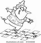 Hopscotch Hop Clipart Cartoon Illustration Royalty Toonaday Rf Illustrationsof sketch template