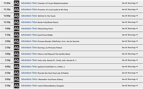Cartoon Network Schedule 2005