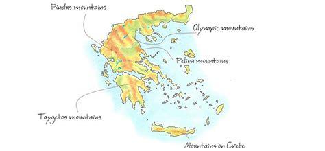 map of mountain ranges mountain ranges of greece