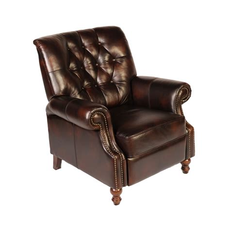leather recliners for lazzaro leather philip tufted back top grain leather