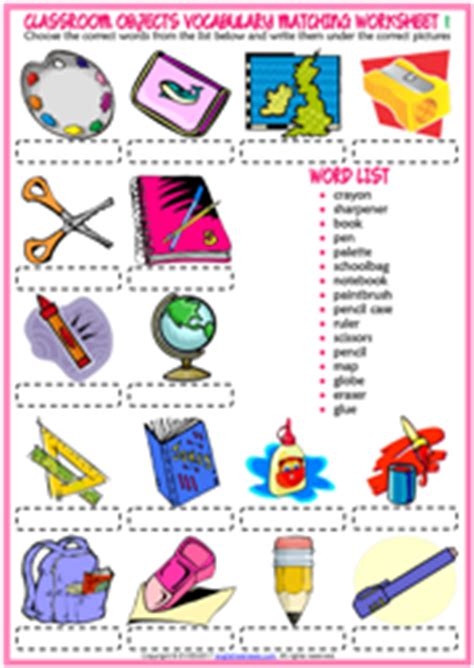 Living Room Dictionary by Classroom Objects Esl Printable Worksheets And Exercises