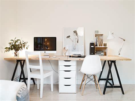 bureau ikea treteaux idée un bureau sur tréteaux 12 inspirations et une