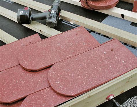 metall ziegel verlegen dachziegel aus kunststoff