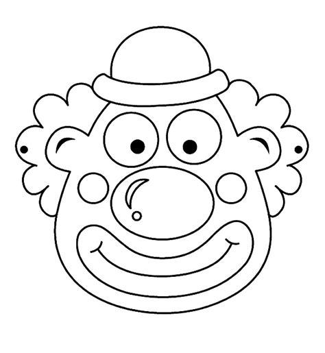 Kleurplaat Clown Strik by Maskers Kleurplaten Clown