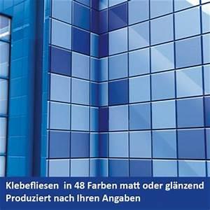 Klebefolie Für Fliesen : selbstklebende fliesen 505 blau 1m gl nzend breit hoch ~ Frokenaadalensverden.com Haus und Dekorationen