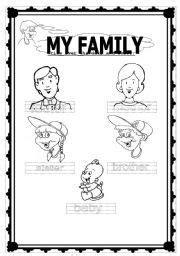family preschool worksheet family worksheet