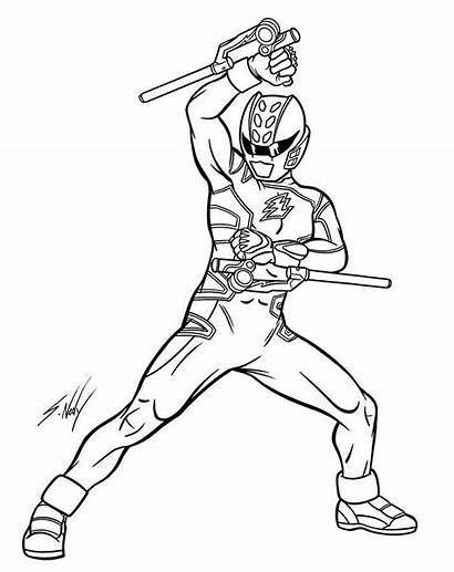 Rangers Coloring Power Pages Printable Ranger Fury