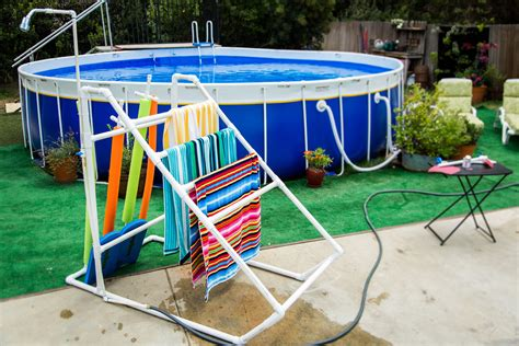 diy pvc pipe pool caddy home family