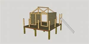 plan cabane enfant par apprenti sur l39air du bois With plan cabane de jardin enfant