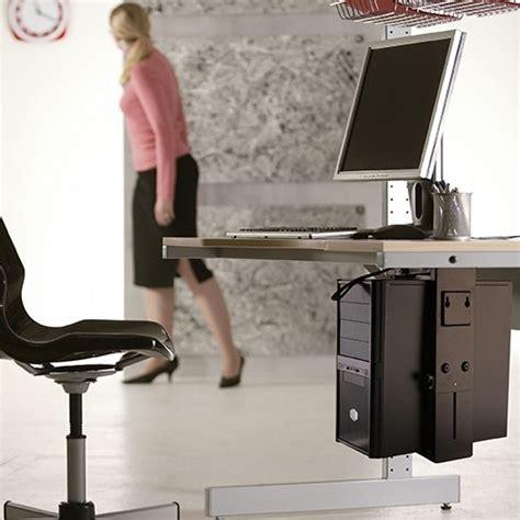 mount ps4 under desk bateck adjustable under desk cpu mount